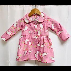 Girls coat jacket unicorns pink 2T,3T,4T Boho